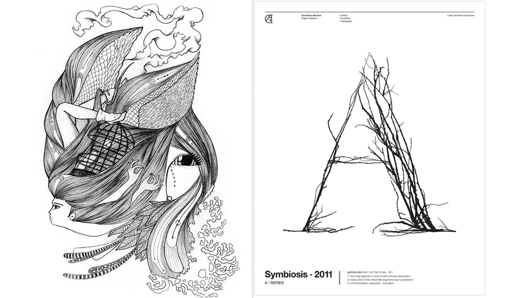 Ilustration and graphic design Symbiosis